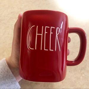 Rae Dunn 'CHEER' Red Christmas Mug NEW AND RARE